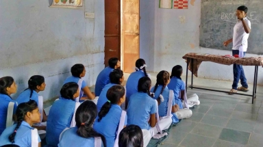 Kaushalam Foundation CMRC during induction session in Government School
