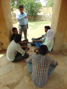KF team meeting with local people to understand thier views about skill development.
