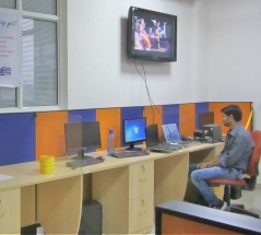 ISYS has given 7 computers for skill development center. A computer lab has been established there. Kaushalam students are trained there in computer and english language.