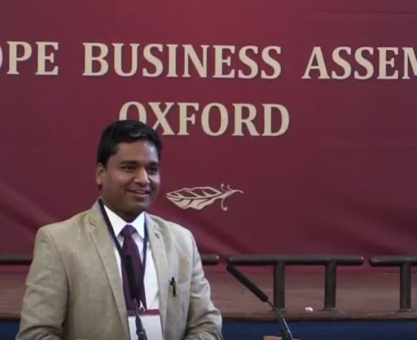Kunal Jain key note at oxford